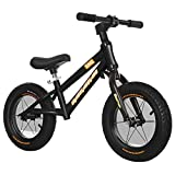 KY Vélo Enfants Balance Bike sans pédale avec Frein à Main et Cloche...