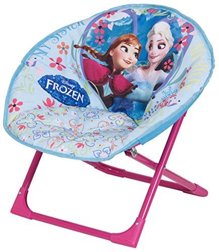 """Disney Designs Runder Stuhl mit Stoffüberzug, Motiv """"Die Eiskönigin"""", 50 x 50 x 46 cm, Blau"""