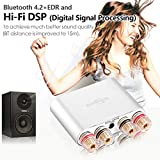 Nobsound NS-10G Pro Hi-Fi DSP 100W (50W x 2) Digital Bluetooth 4.2 Amplifier 2.0 Channel Stereo Power Audio Amp for Home Speakers Upgrade Version Mini Digitaler Verstärker (with Power Supply, Silver) Test
