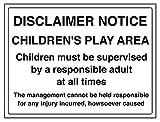 vsafety 72028bf-s Allgemeine Informationen Sign Haftungsausschluss Merken,/für Kinder, selbstklebend, Landschaft, 400mm x 300mm, schwarz