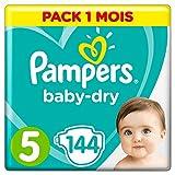 Pampers Baby Dry  - Pañales para bebés, Talla 5 (11-16kg), 144 unidades
