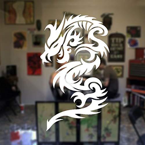 ign Drachen Muster Tier Fensteraufkleber Vinyl Interior Home Decor Wohnzimmer Kinder Schlafzimmer Tür Wandbild Removable57 * 98 cm ()