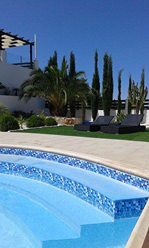 Border Choice Frise décorative de piscine (en lots de 1 m) 150mm bleu lagon