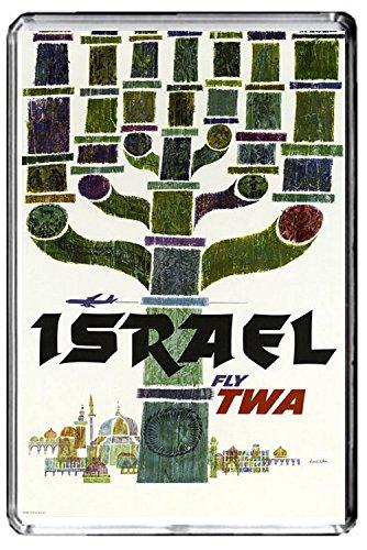 A406 ISRAEL KÜHLSCHRANKMAGNET ISRAEL TRAVEL VINTAGE REFRIGERATOR MAGNET