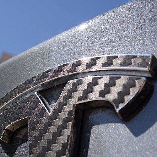 "Preisvergleich Produktbild Tesla Carbon Fiber Decals (Rear ""T"")"