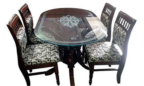 HI-Tech Comfort Model Dining Table Set With Four Chairs