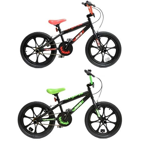 "51a0J0TOyML. SS500  - XN BMX 18"" 7 Spoke MAG Wheel Freestyle Bike Gyro Stunt Pegs Kids Boys Girls"