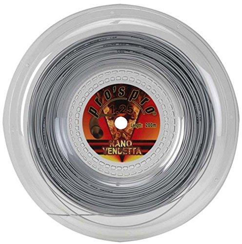 Pros Pro Tennissaite Nano Vendetta 200m 1.25mm silber