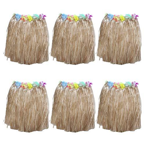 Set Faldas Hawaianas 6 Piezas - Coloridas