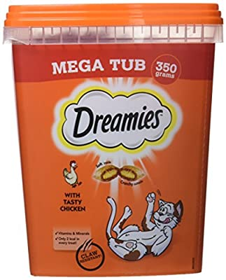 Dreamies Cat Treats With Chicken Megatub, 350 g, Pack of 2