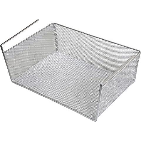 Almacenaje casero YBM, debajo de la repisa de la cesta, Plata, acero inoxidable, plata, 6x15x10-Large-1131
