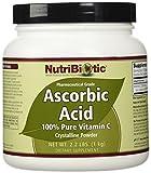 Acide ascorbique, poudre cristalline, 2,2 lb (1 kg) - NutriBiotic