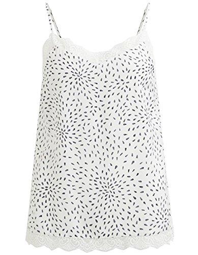 Vila White Lace Blouse Vicava Clothes white