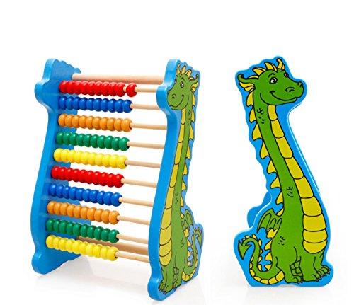 Lewo Abakus Lernspielzeug Klassiker Hölzern Wulst Abakus Dinosaurier Kinder Mathe Spiele Lernen Zählen Spiele