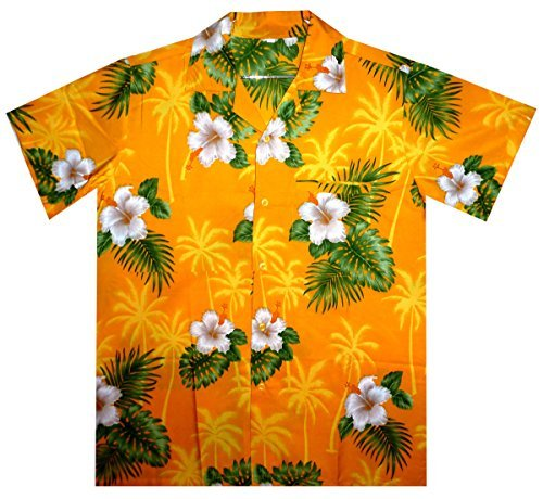 Funky-Camisa-Hawaiana-Small-Flower-amarillo-M