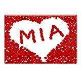 Tischset mit Namen ''Mia'' Motiv Rosenherz - Tischunterlage, Platzset, Platzdeckchen, Platzunterlage, Namenstischset