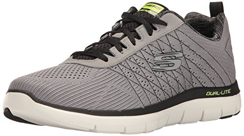 Skechers Herren Flex Advantage 2.0 - The Happs Outdoor Fitnessschuhe, Grau (Light Grey/Black), 45 EU (Jungs Sportliche Skechers Schuhe)