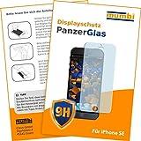 mumbi Panzerglasfolie iPhone SE Glasfolie Hartglas 9H