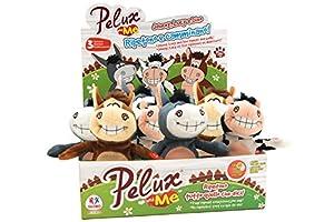 Globo Toys Globo-3781219cm 3Pelux Surtidos Try-me repetición y Walk Peluche en una Caja (9Piezas)