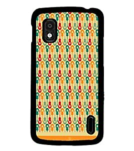 PrintDhaba Pattern D-1624 Back Case Cover for LG GOOGLE NEXUS 4 (Multi-Coloured)