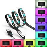 Retroilluminazione a LED TV Luci della striscia JACKYLED 2M 5V Luci posteriori della TV del LED Multicolore RGB 5050 Potenza USB Sfondo del monitor Illuminazione bias con il Mini Controller