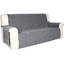 Blindecor Paula - Protector sofá, 3 plazas, color gris