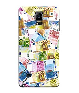 FUSON Designer Back Case Cover for Samsung Galaxy Note Edge :: Samsung Galaxy Note Edge N915Fy N915A N915T N915K/N915L/N915S N915G N915D (Dollors rupees Dhinars currency Arts)