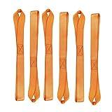 Abimars Weich Loop Tie Down Sicherung Loop Straps–Nylon Tie Down Straps–6Pack–Schlaufen für ATV, UTV, Motorräder, Roller, Dirt Bikes, Rasen & Garten Equipment