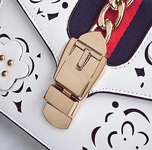 Art Und Weise Blüht Hohle Wilde Tasche Einzelne Schulterbeutel Kurierbeutel Beiläufiges Weibliches Paket Einfach White