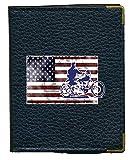Syl'la Moto Harley - Funda para Tarjetas de crédito, diseño de Bandera de Estados Unidos, Color Negro