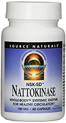 Source Naturals Nattokinase, 60 Caps, 100 Mg by Source Naturals