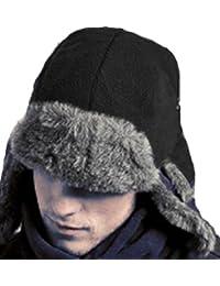 New Mens Ladies Unisex Adult Fur Trimmed Logan Fleece Warm Winter Trapper Hat