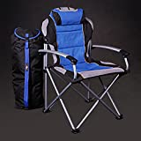 ProMech Racing Fold-Up Camping Garden Paddock Chair with Carry Bag - Riptide Blue