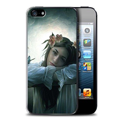 Officiel Elena Dudina Coque / Etui pour Apple iPhone 5/5S / Masque d'Hiver Design / Un avec la Nature Collection Rêveur