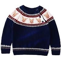 Chenqi Childs Boys Girls Cuello Redondo Jersey de Punto Ugly Christmas Sweater Jumper