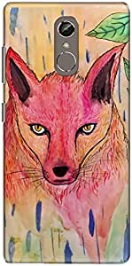 The Racoon Lean printed designer hard back mobile phone case cover for Gionee S6S. (Fox ABstra)