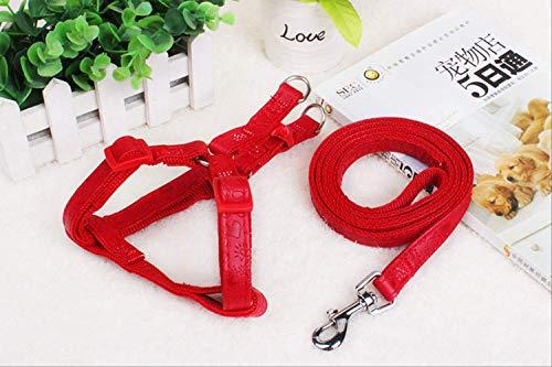 Geschnitzte Kette Hund Kette Hund Seil Hund Traktion Seil Brust Mit Haustier Liefert L: 2,0 cm (innen 30 kg) Rotes China -