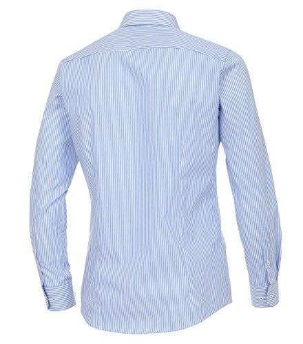 Venti - Slim Fit - Gestreiftes Herren Hemd, Bügelfrei (172726700) Blau (100)