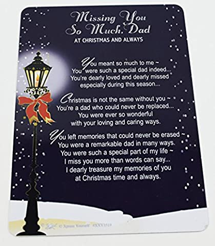 Missing You So Much Dad Weihnachten Grabkarte Graveside Remembrance