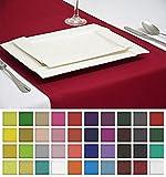 Rollmayer EDLE TISCHLÄUFER TISCHDECKE TISCHTUCH TISCHWÄSCHE PFLEGELEICHT 40 Farben (Weinrot 13, 30x100cm)
