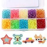 Sasairy 1100 Stück Perlen Bunte Set Kinder Perlen Beads Spielzeug für Kinder DIY Armbänder Perlenschnur Haarband Basteln Pädagogisches Spielzeug mit Werkzeuge und Zubehör, Kit 10