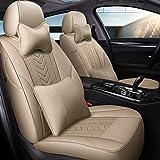 CARZJ Autokissenbezug All-Inclusive Ledersitzbezug Four Seasons Universal Leicht zu montierender Sitzbezug Car Special Customized Version,C