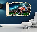 3D Wandtattoo Tackling im Football Animation Tapete Wand Aufkleber Wanddurchbruch Deko Wandbild Wandsticker 11N2210, Wandbild Größe F:ca. 140cmx82cm