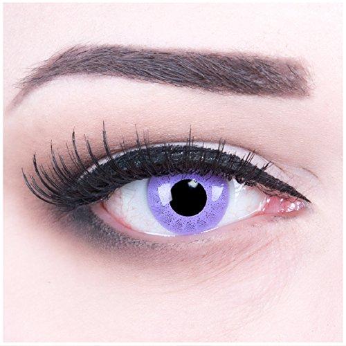 Funnylens 1 Paar farbige violette lila purple crazy fun Jahres Kontaktlinsen solar purple 1 Paar Topqualität zu Halloween und Karneval mit gratis Kontaktlinsenbehälter ohne Stärke!
