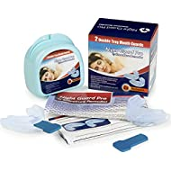 Stop Snoring Mouth Guard Snoring Aids x2 | Teeth Grinding Night Guard AND Anti Snoring Devices 2 Pack | Mandibular Advancement Device | Designed to Prevent Bruxism, TMJ and Jaw Ache | Includes Large Anti-Bacterial Case and Fitting Instructions | 100% 12 Month Guarantee