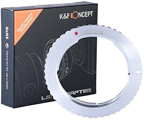 K&F Concept PK-EOS Objektivadapter Objektiv Adapter Adapterring EFS Kamera Bajonett Rebel Pentax-K PK Canon EF EOS (Pentax Rebel Digital Canon)