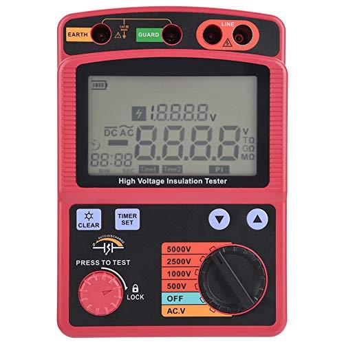 Misuratore di Resistenza, Akozon GM3125 Multimetro a Resistenza Isolamento Digitale Tester 5KV 0,0MΩ-1000GΩ Megaohmmetro Test di Continuità Tensione