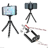#10: Mobile Tripod for Samsung, iPhone, Sony and all mobiles + Phone Holder Clip-Assorted color