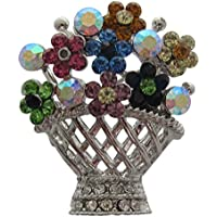 Boutique-Spilla a forma di vaso di fiori in vaso da fiori, a forma di Spilla con Bouquet di fiori, per la festa della