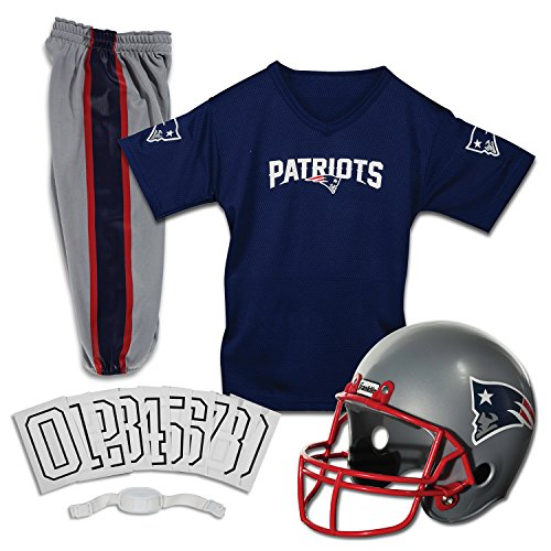(Franklin Sports NFL Deluxe Youth Uniform Set, Jungen Unisex, 15701F24, New England Patriots, M)